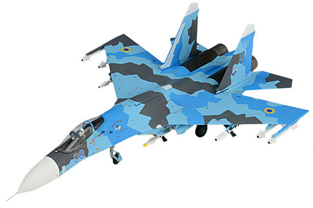 JC Wings 1/72 Su-27 Flanker-B Airplane blu 08 Ukrainian Air Force 831st IAP