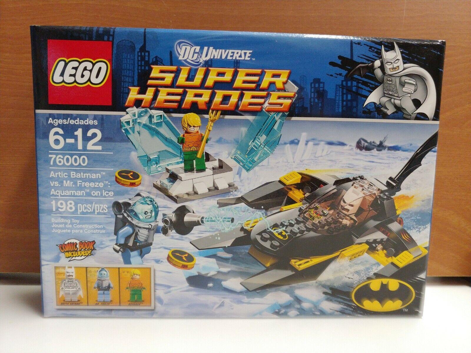 Lego 76000 del Ártico Batman vs Mr. Freeze Aquaman en DC súper Heroes retirado de hielo