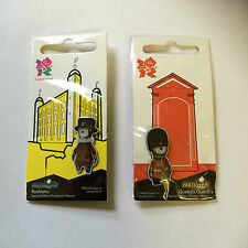 London 2012 Olympic Pin Badges - Manderville Beefeater & Wenlock Queens Guard