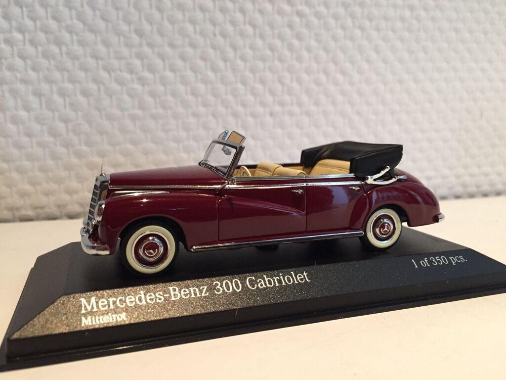 Mercedes Benz 300 converdeible w186 1952 1 43 Minichamps nuevo & OVP 437032131