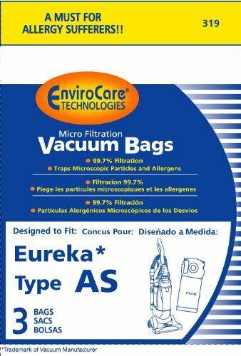 Eureka AS Vacuum Bag 3 Pack by Envirocare 319