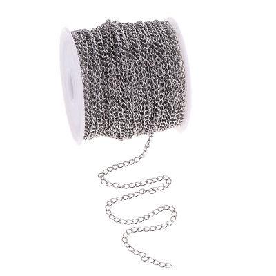 1 Rolle DIY Metallkette Edelstahl Gliederkette Kabelkette zum Basteln für