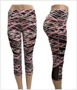 womens sport capri yoga workout running gym pants leggings
