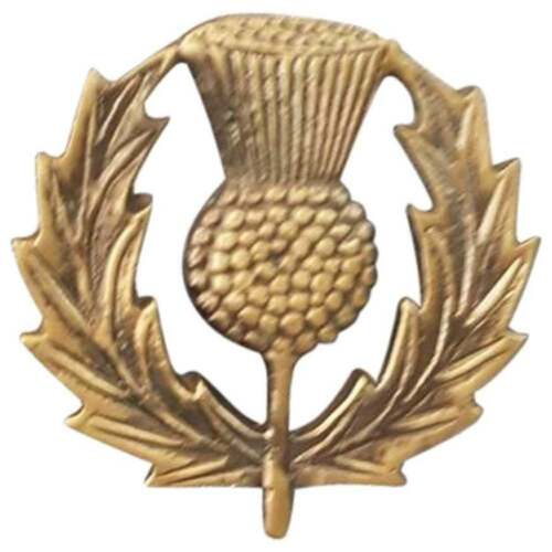 "Scottish Glengarry Cap Badges Thistle Emblem Antique Finish//Army Cap Badge 2/"""
