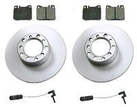 Mercedes W123 280ce 79-81 Front Disc Brake Rotors+pads Kit Best Value W/ Sensors on sale