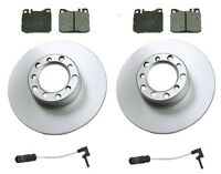 Mercedes W123 280ce 79-81 Front Disc Brake Rotors+pads Kit Best Value W/ Sensors on sale