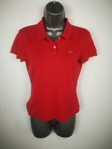 WOMENS-LACOSTE-PINK-CASUAL-POLO-SHIRT-SUMMER-TOP-SIZE-EUR-40