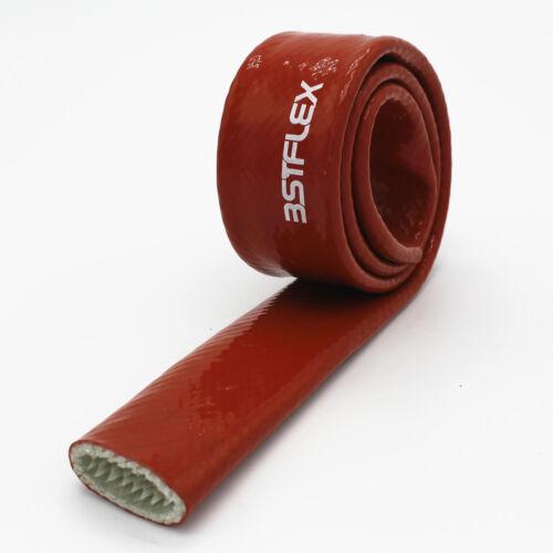 6mm ~ 50mm Recubiertas de silicona Fibra De Vidrio Calor//fuego de envolver alto 2,200F en Rojo Nuevo