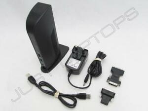 Kensington HP Elitebook 840 G1 G2 USB 3.0 Docking Station W / DVI Video Inc PSU