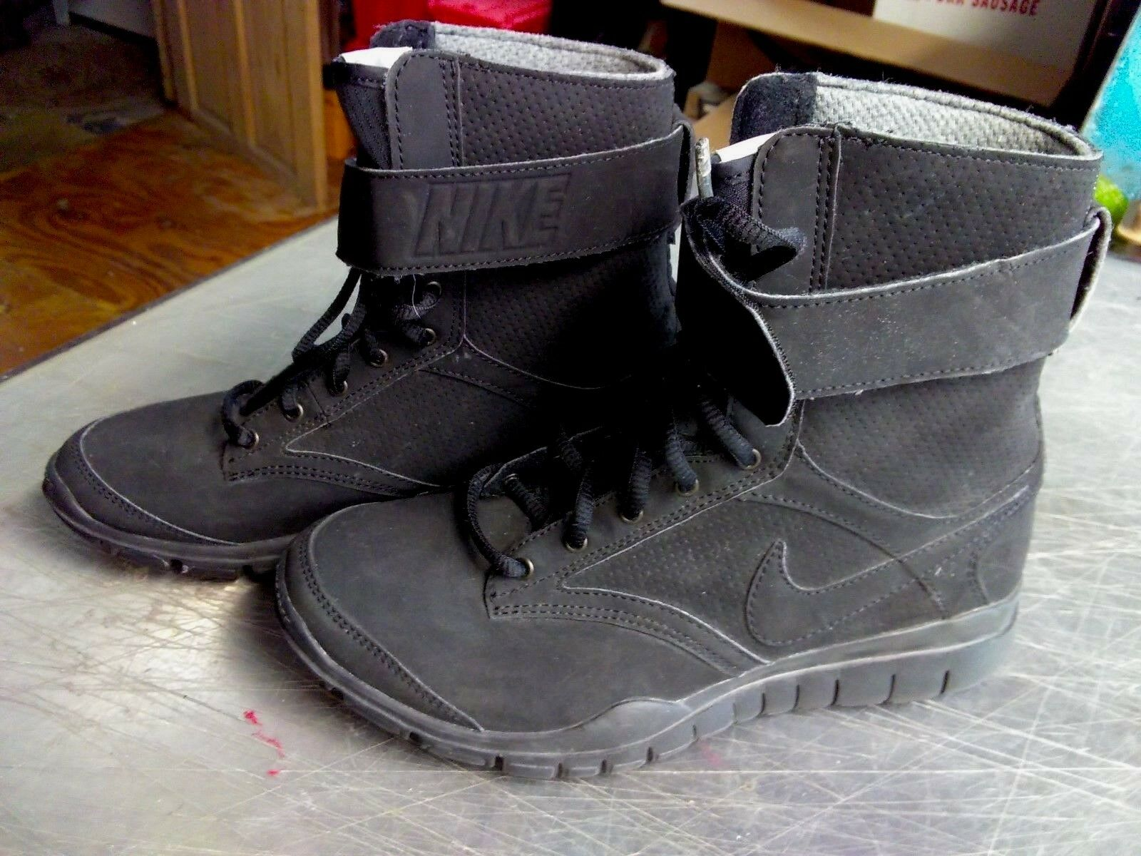 Nike Training Combat TR High High High 535852-001 Black Women's Girl's Boots Size 6.5 M d104ce