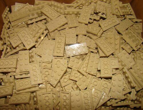Tan 2x4 dot plates NEW LEGO Lot of 100 Beige