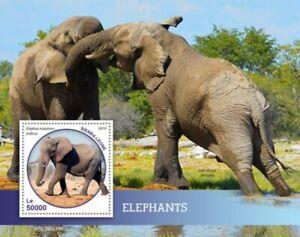 Sierra-Leone-2019-elephants-Stamp-Souvenir-Sheet-SRL190213b