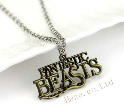 Fantastic Beasts/&Where to Find Them Letters Necklace Kids Toys Party Gifts