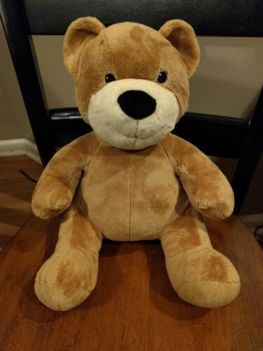 "14"" Build a Bear Certified Asthma & Allergy Friendly Velvetey Plush Brown & Tan"