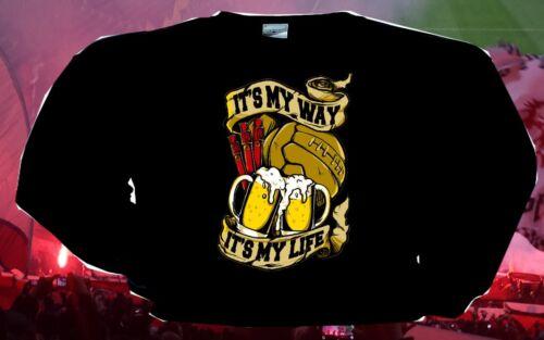 T-Shirt Kapu Sweatshirt Herren my way passend für Ultras Fussballfans und hools