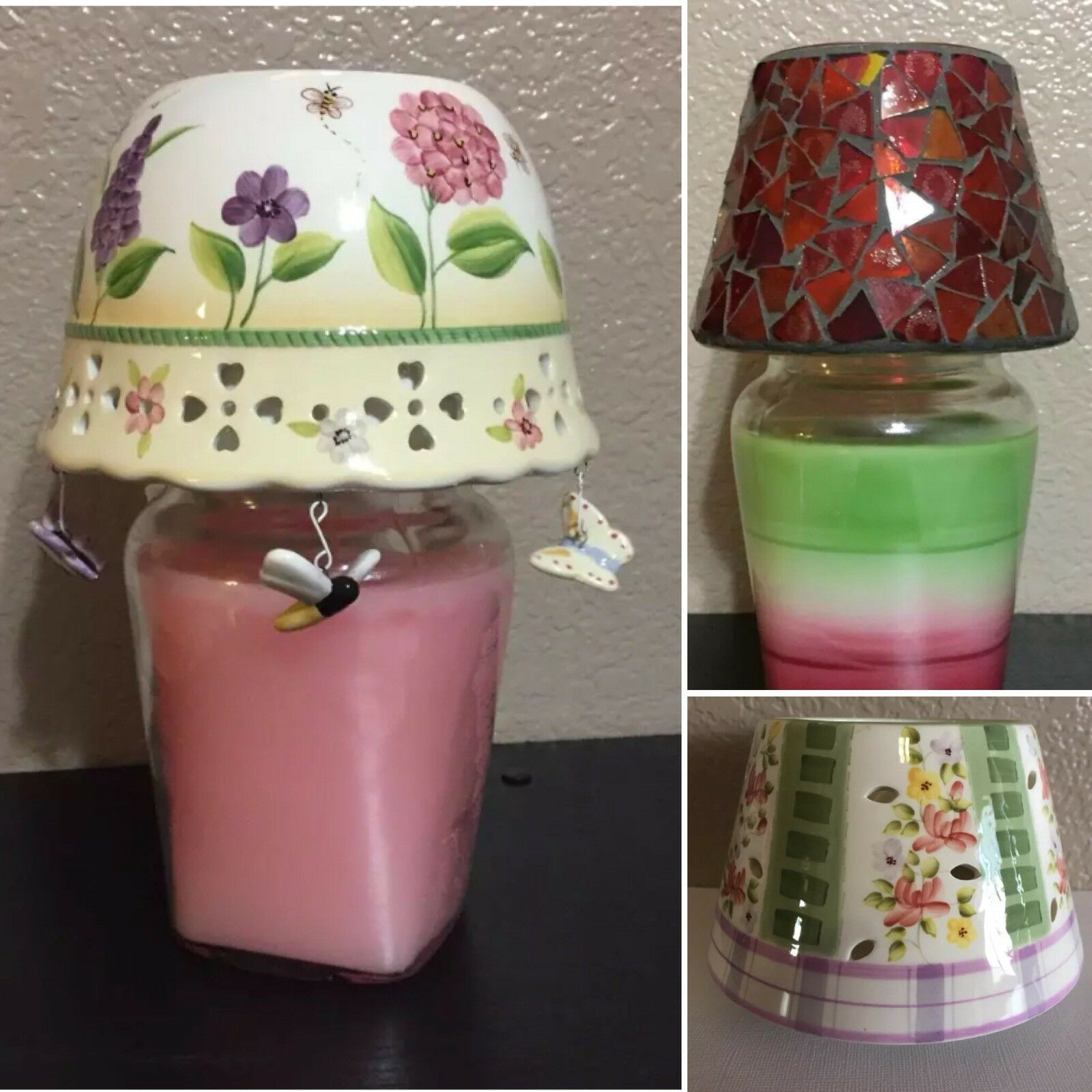 Celebrating Home Interiors Various Candle Shade Capper Topper