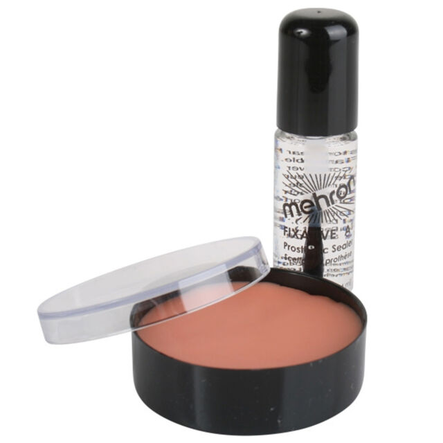 Mehron Modeling Putty Wax Costume Special Effects Makeup Halloween + Fixative A