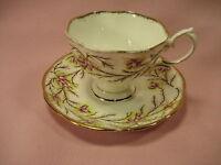 Vintage Royal Albert Bone China England  Heather Bell #2687  Tea Cup & Saucer