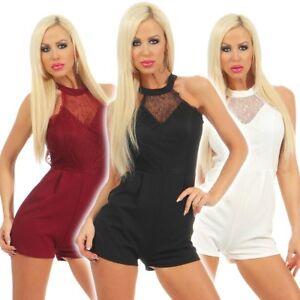 4909-Damen-Mini-Overall-Rueckenfrei-Jumpsuit-Einteiler-Hosenanzug-Shorts-Clubwear