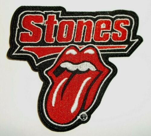 """Rolling Stones~Tongue~Rock /& Roll~Embroidered PATCH~3 1//2/"""" x 3 1//4/""""~Iron or Sew"""