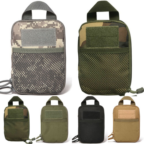 Tactical Army Camo Military Waist Belt Pack Phone Case Pouch Bag Camping Hiking