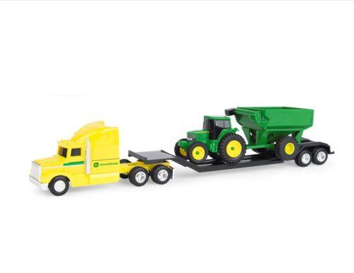 Remolque Tractor Carreta 1//64 Escala, Nuevo John Deere Amarillo Semi Camión