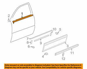 TOYOTA OEM Front Door Window Sweep-Belt Molding Weatherstrip Left 7572033040