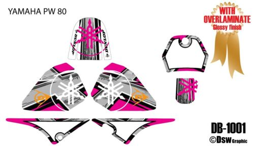 *NEW* GRAPHICS DECAL STICKER KIT PEEWEE 80 PW80 PW 80CC  ALL YEARS DB-1001