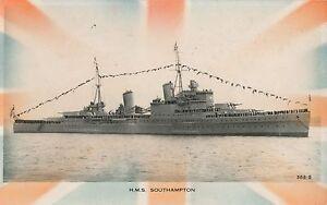 POSTCARD-SHIPS-HMS-SOUTHAMPTON