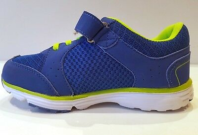 NEW BLUE ULTRA LIGHTWEIGHT TRAINERS KIDS TRAINERS MESH SHOCK ABSORBING size 10