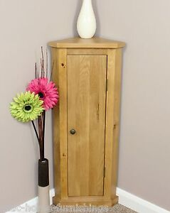 Solid-Oak-Corner-Telephone-Cabinet-Storage-Unit-Plant-Stand-100-Solid-Oak