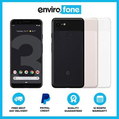 b63e8aa70ad5a6 Google Pixel 3 64GB 128GB Black White Unlocked SIM Free Refurbished  Smartphone | eBay