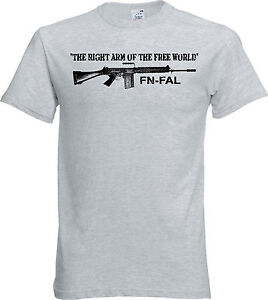 FN FAL T Shirt The Right Arm of the Free World 308 Nato British L1A1 ... 36a56b6d1
