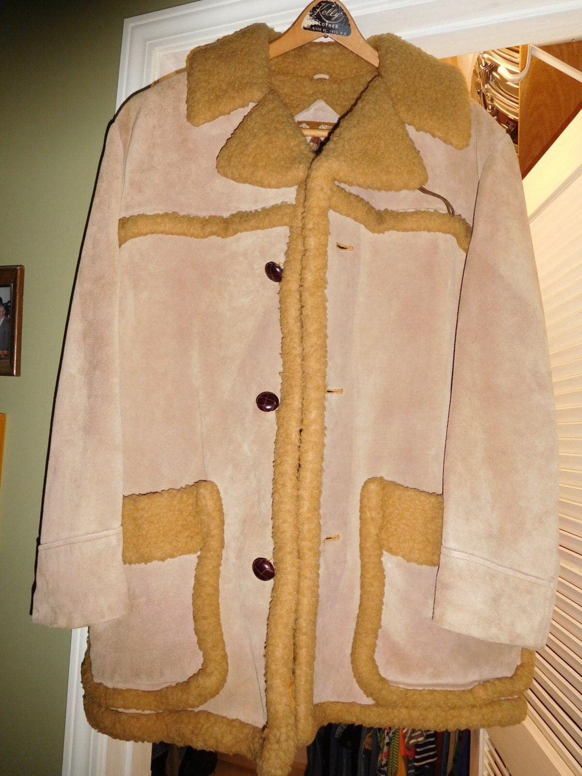 Men's Tan Suede Coat Size 42