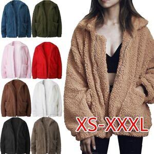 Women-039-s-Fashion-Lapel-Zip-Up-Faux-Shearling-Shaggy-Oversized-Winter-Coat-Jacket