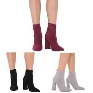 NEW-LADIES-HIGH-BLOCK-HEEL-ZIP-UP-CHELSEA-ANKLE-BOOT-SHOES-SIZE-3-8
