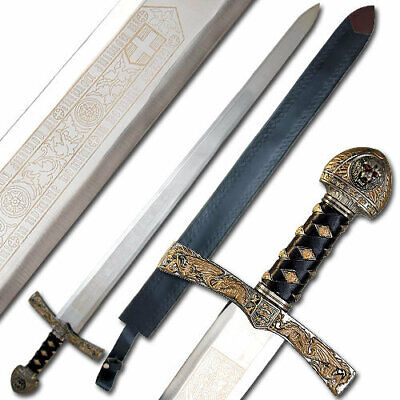 King Richard the Lionheart Sword Lion Crested Medieval Ceremonial Longsword