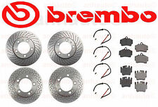 Quality BRAKE KIT Pads Sensors BREMBO Rotors Porsche 911 1999-2005 Carrera 996