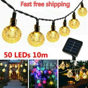 Solar-Powered-50-LED-String-Light-Garden-Path-Yard-Decor-Lamp-Outdoor-Waterproof