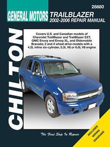 chilton repair manual trailblazer gmc envoy olds bravada 2002 09 rh ebay com 2006 gmc envoy denali owners manual 2006 gmc envoy service manual