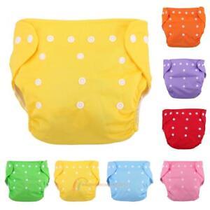 Reusable-Infant-Diaper-Grid-Soft-Covers-Washable-Cloth-Adjustable-Diaper-Nappies