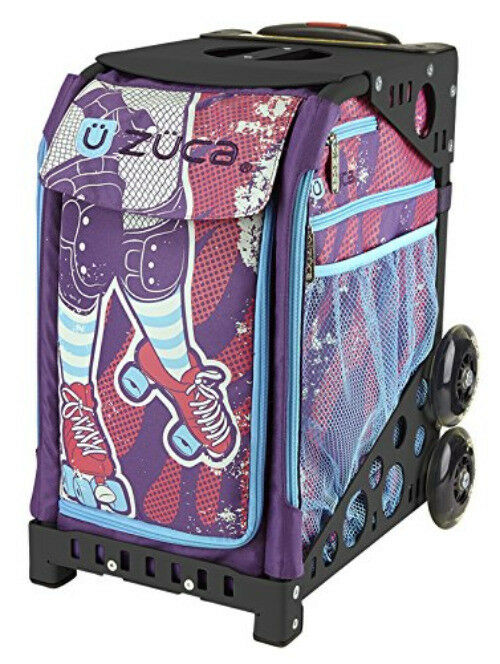 ZUCA Bag Roller Girl Insert & Purple Frame w  Flashing Wheels