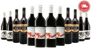 150-Sold-85-Delivered-ft-Zilzie-AU-Merlot-Mix-RRP-319-12x750ml-Free-Shipping