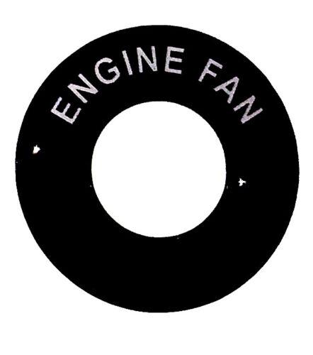 Moteur Ventilateur-Lucas Interrupteur à bascule rond Dash Tag-Classic Kit Voiture Hot Rod