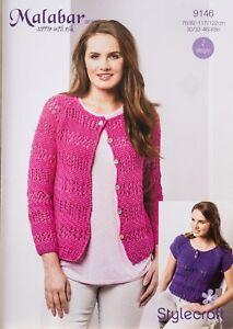 Stylecraft Knitting Pattern 9146 Ladies Lacy Eyelet T Cardigan Aran ... d734dab33