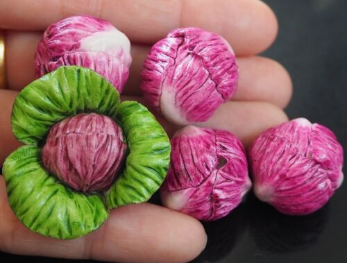 Dollhouse Miniatures 5 Loose Red Cabbage Vegetable Kitchen Accessory Food Supply