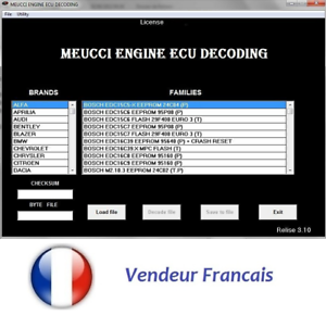 Logiciel Immo Meucci v3.1 SoftWare Reset Unlock Remove Turn OFF Immo CODE
