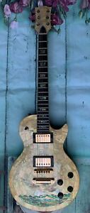 Eagle Solid Electric Guitar 6 Str Real Natura White Mop Handmade Inlaid GT3713