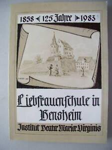 Liebfrauenschule Bensheim Institut Beatre Maria Virgini - Eggenstein-Leopoldshafen, Deutschland - Liebfrauenschule Bensheim Institut Beatre Maria Virgini - Eggenstein-Leopoldshafen, Deutschland