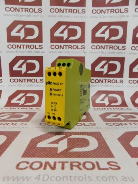 Pilz PNOZ X7 774059 Safety Relay 6A 2VA 24VACDC 2N/O - Used